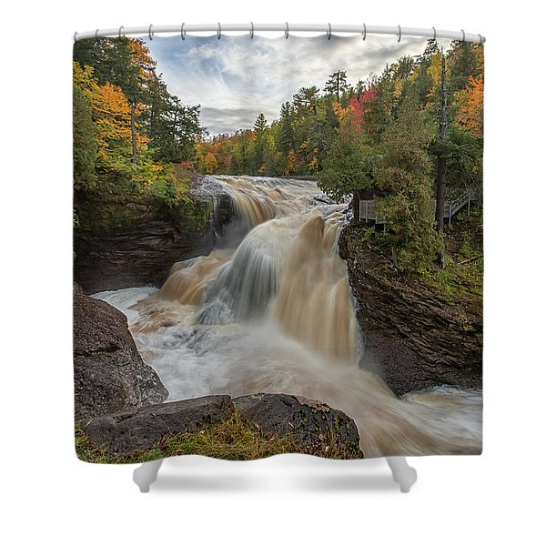 Shower Curtain featuring the photograph Rainbow Falls 1 by Heather Kenward