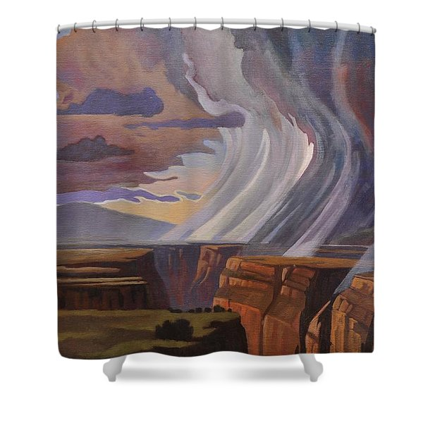 Rainbow Of Rain Shower Curtain