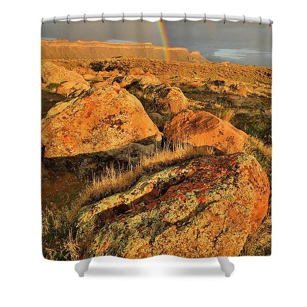 Rainbow Over The Book Cliffs Shower Curtain