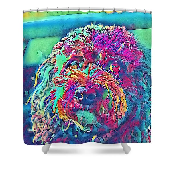 Rainbow Pup Shower Curtain