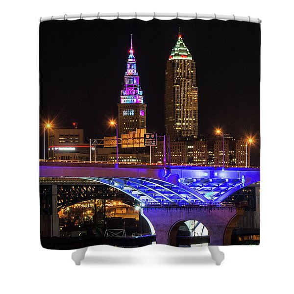 Rainbow Tower In Cleveland Shower Curtain