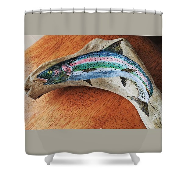 Rainbow Trout #1 Shower Curtain