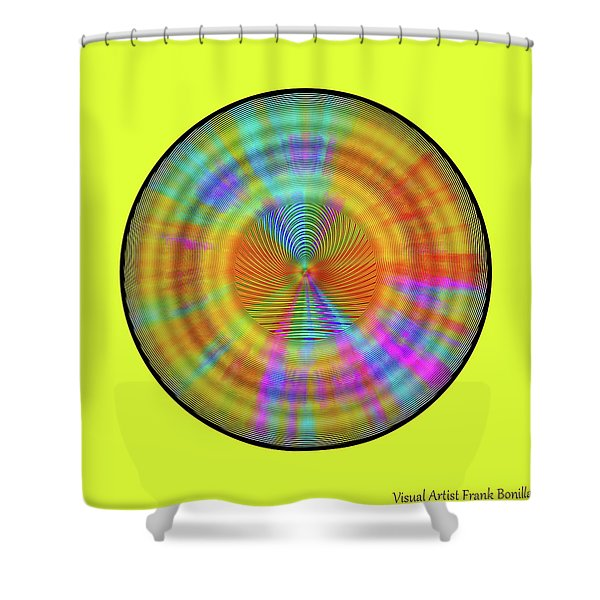 Shower Curtain featuring the digital art Rainbwow Sun by Visual Artist Frank Bonilla