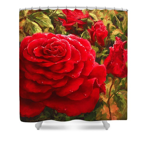 Raindrops And Roses Shower Curtain