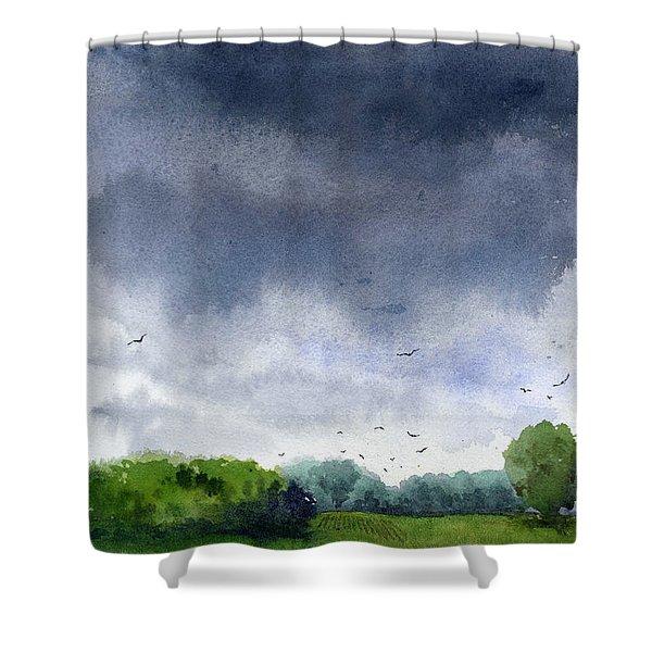 Rains Coming Shower Curtain