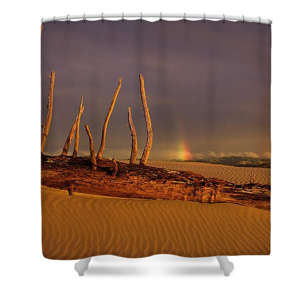 Rainy Day Dunes Shower Curtain