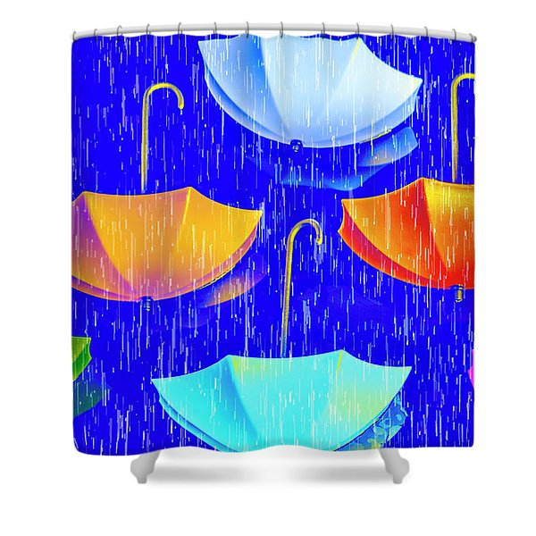 Rainy Day Parade Shower Curtain