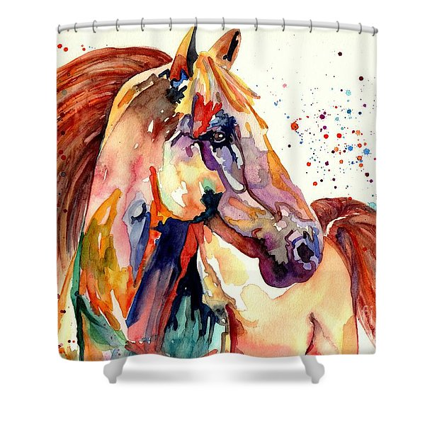 Rainy Horse Shower Curtain