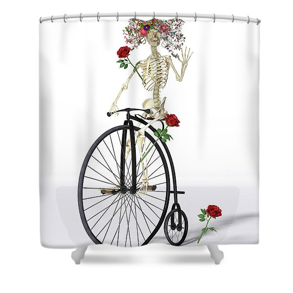 Rambling Rosy  Shower Curtain