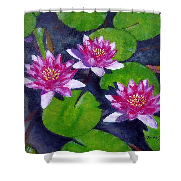 Rancho Water Lilies Shower Curtain