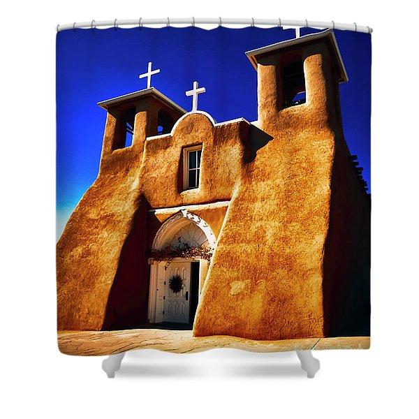 Ranchos Church  Xxxii Shower Curtain