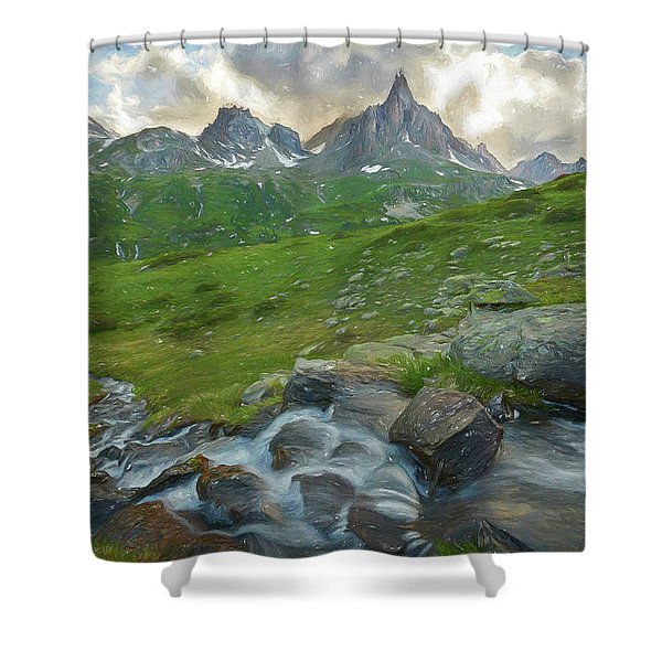 Range In The Claree Valley II Shower Curtain