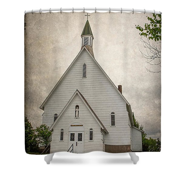 Raquette Lake Chapel Shower Curtain