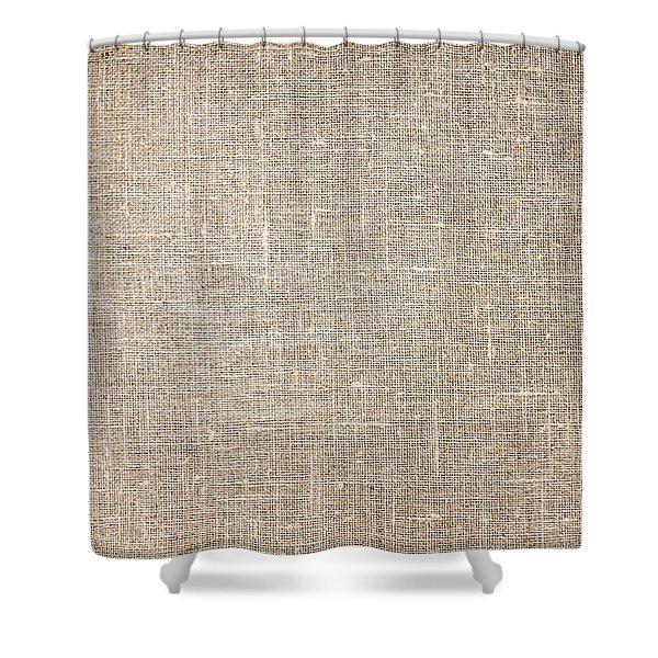 Raw Natural Linen Shower Curtain