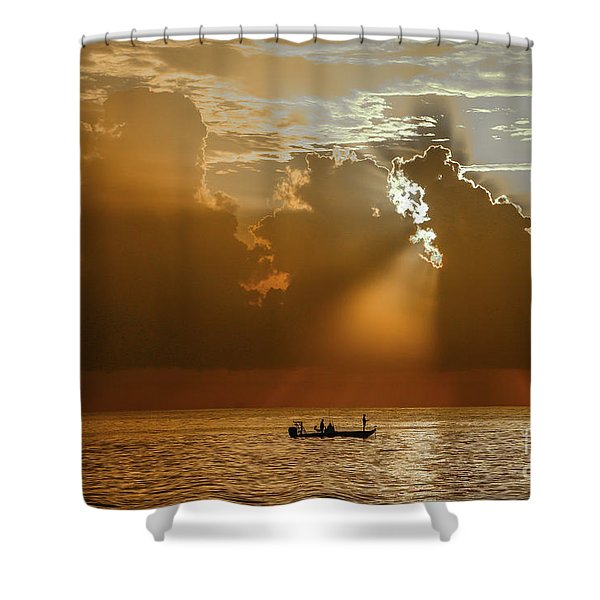 Shower Curtain featuring the photograph Rays Light The Way by Tom Claud