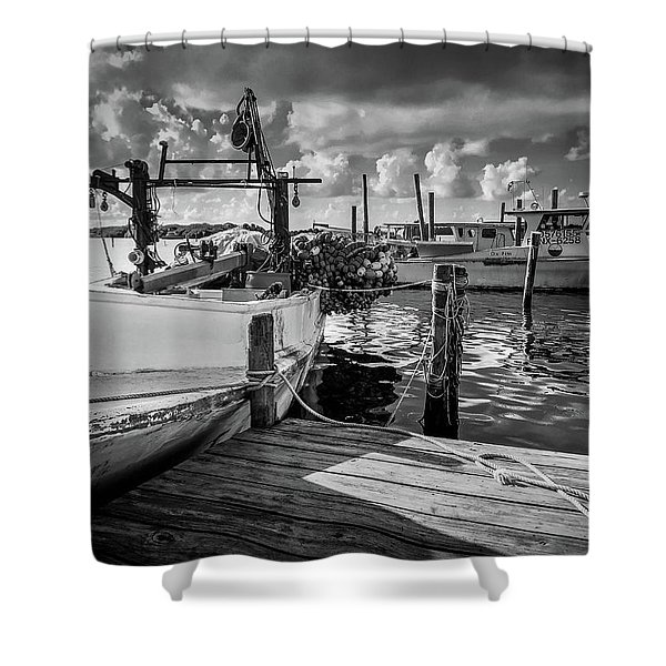 Ready To Go In Bw Shower Curtain