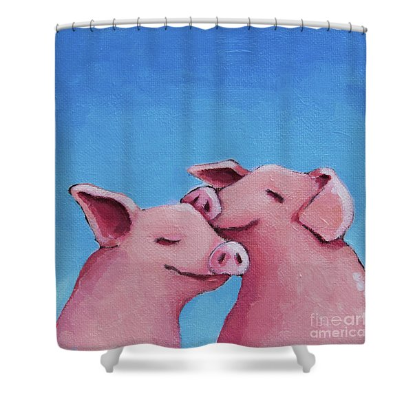 Real Friendships Shower Curtain