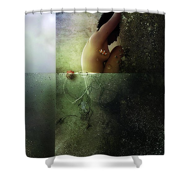 Reality Clash Shower Curtain