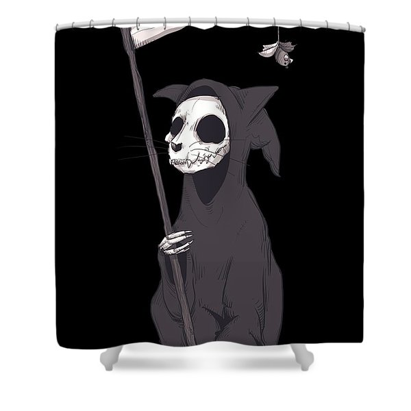 Reaper Cat Shower Curtain