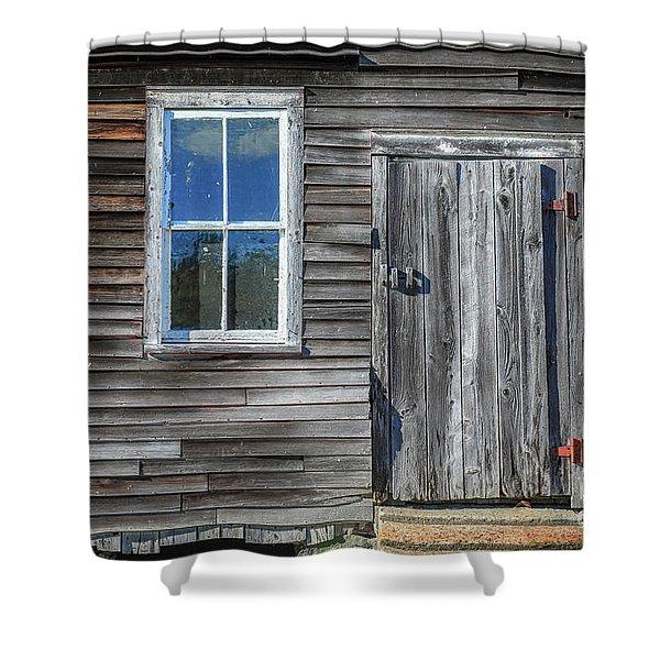 Rear Barn Door Shower Curtain