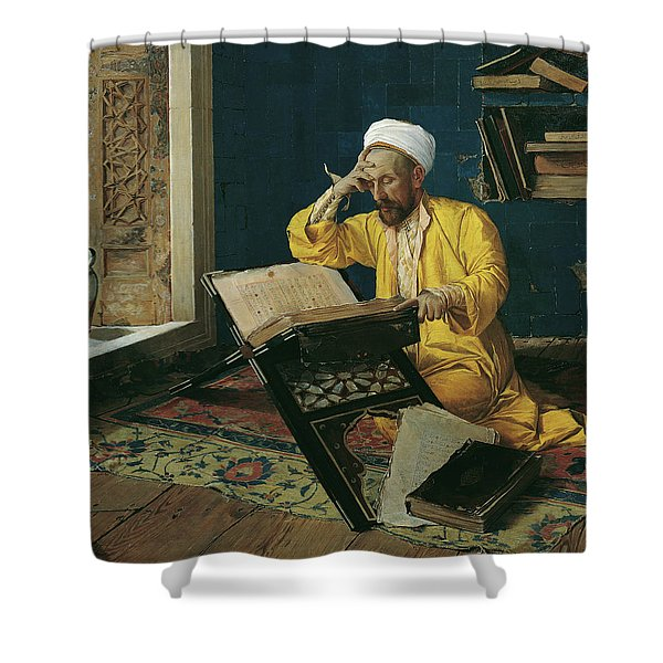 Reciting The Quran, 1902 Shower Curtain