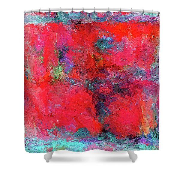 Rectangular Red Shower Curtain