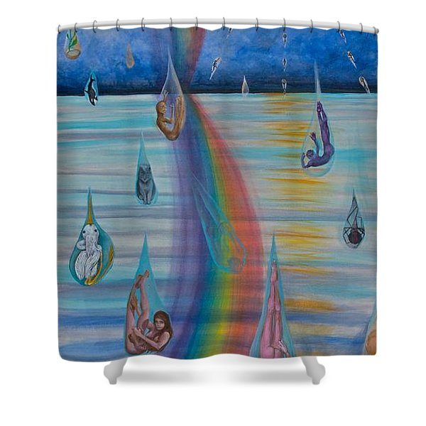 Recycled Energy Shower Curtain