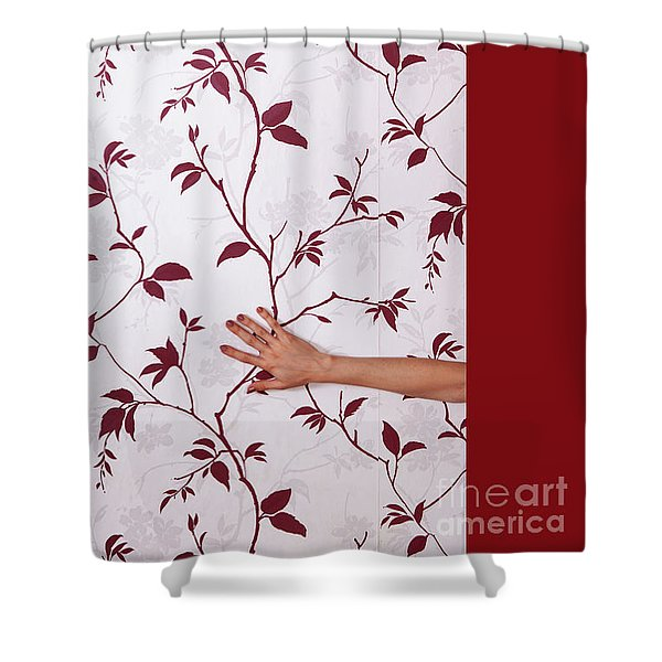 Red #0586 Shower Curtain