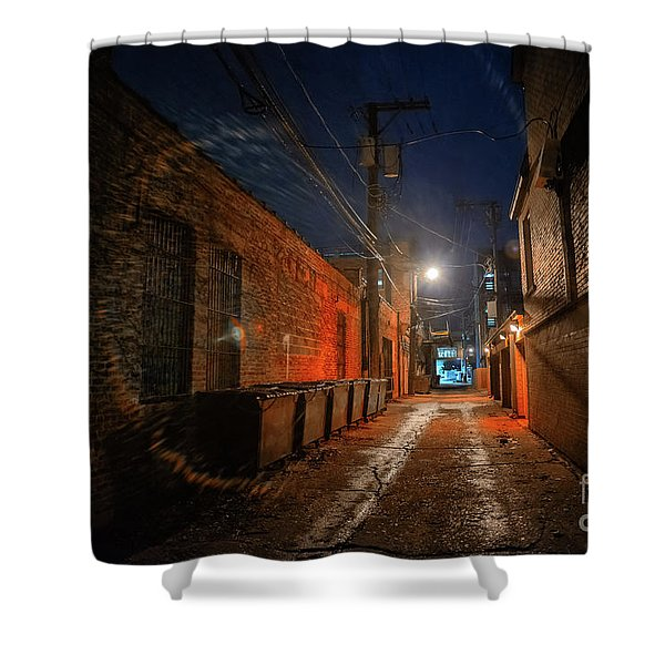 Red Alley Shower Curtain