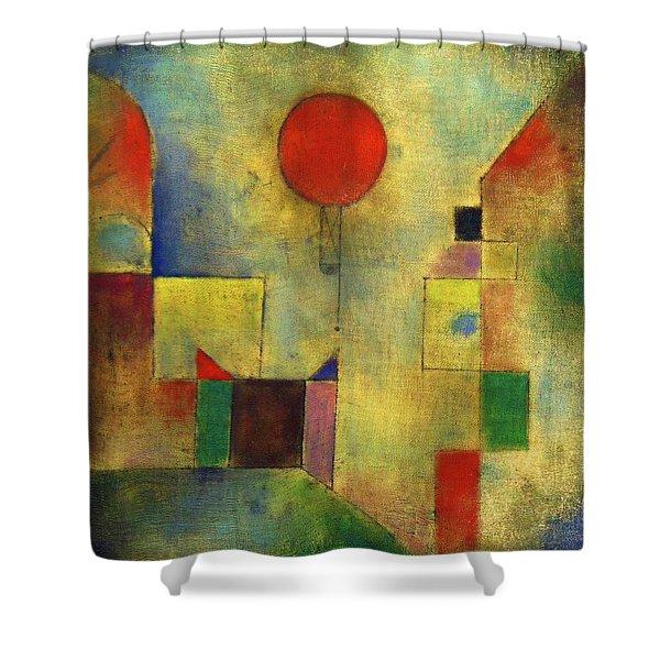 Red Balloon - Roter Ballon, 1922 Shower Curtain
