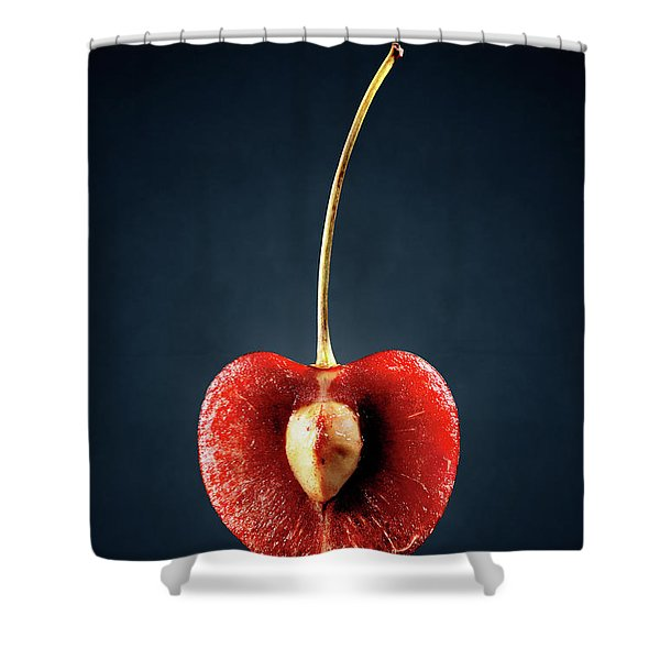 Red Cherry Still Life Shower Curtain