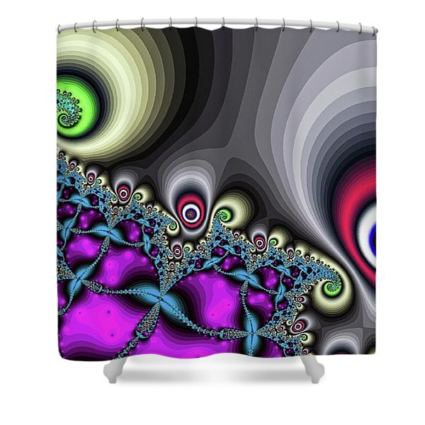Red Circus Eyes Shower Curtain