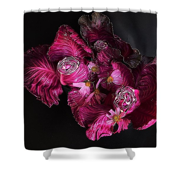 Red Cone Cabbage Shower Curtain