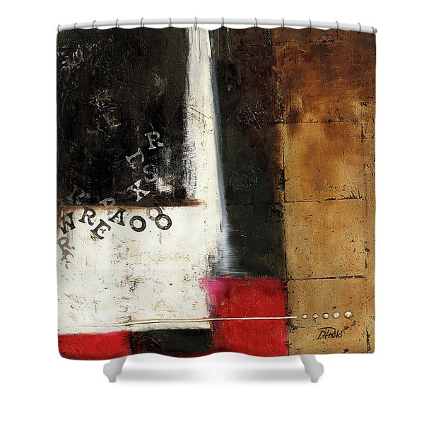 Red Contemporary Iv Shower Curtain