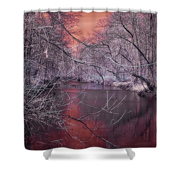 Red Creek Shower Curtain