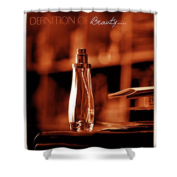 Red Definition Of Beauty Shower Curtain