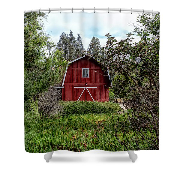 Red House Over Yonder Shower Curtain