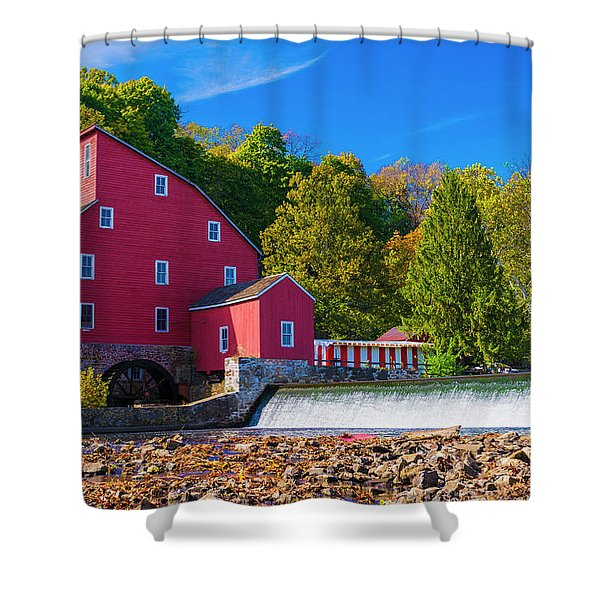 Red Mill Photograph Shower Curtain