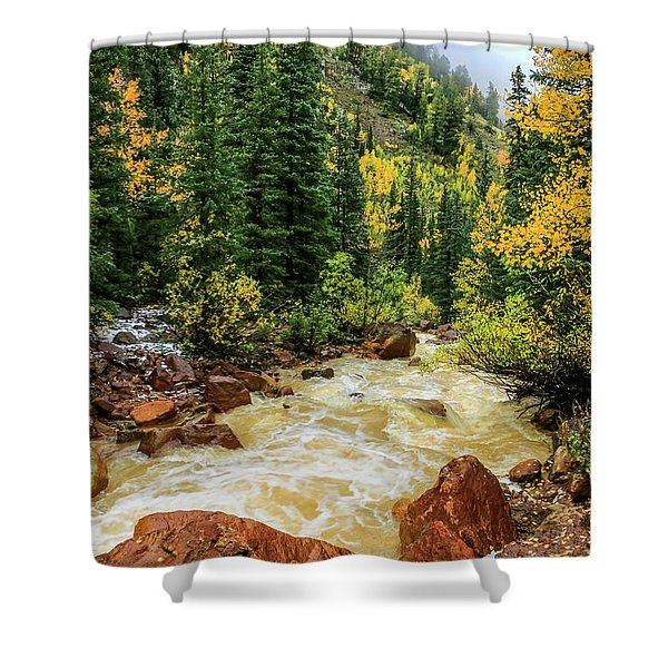 Shower Curtain featuring the photograph Red Mountain Creek In San Juan Mountains by Dawn Richards