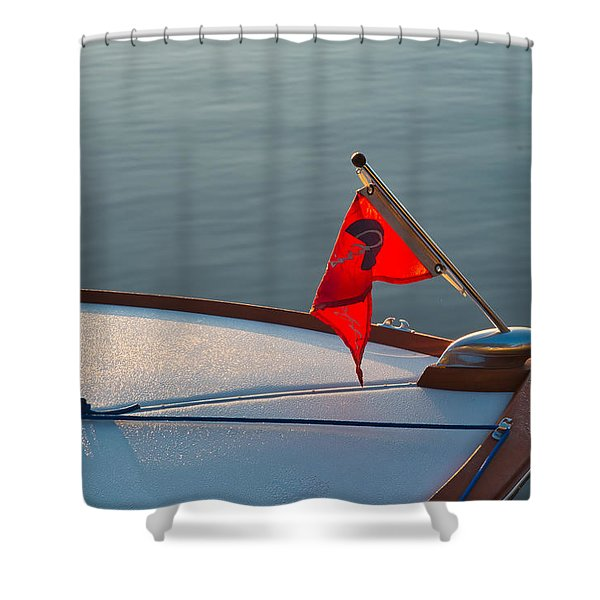 Shower Curtain featuring the photograph Red Pennant by Tom Gresham