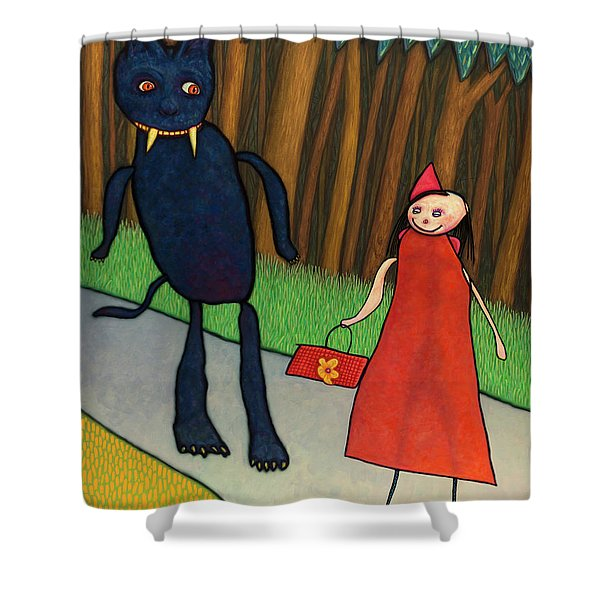 Red Ridinghood Shower Curtain