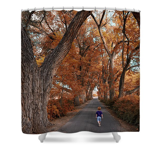 Redhead Fall Walkabout Shower Curtain