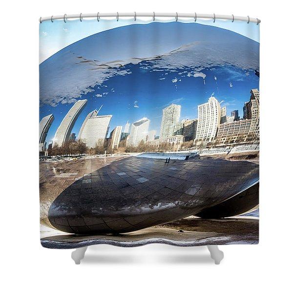 Reflecting Bean Shower Curtain