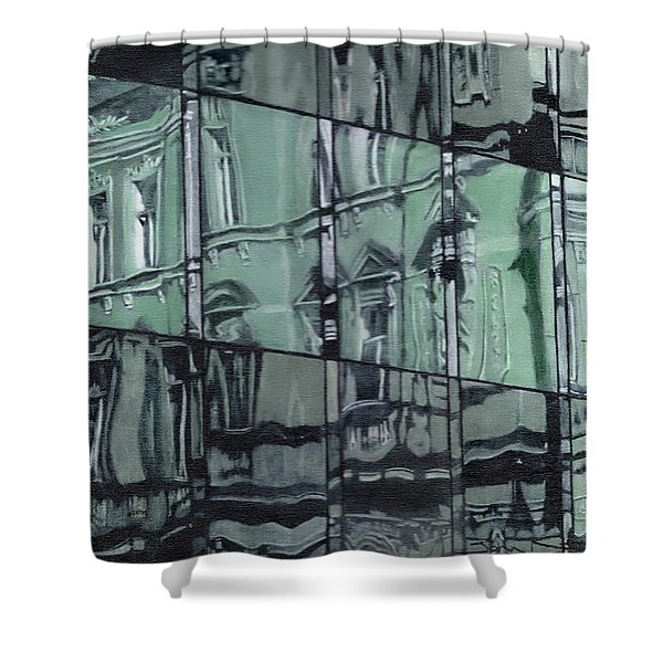 A Reflection On Modern Architecture Shower Curtain