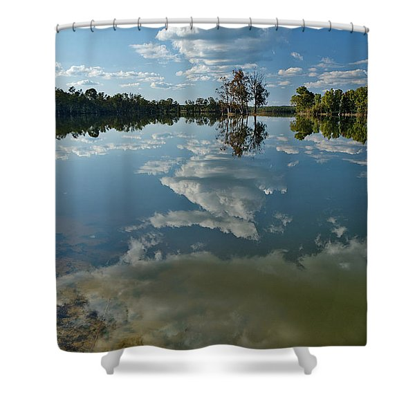 Reflections By The Lake Shower Curtain