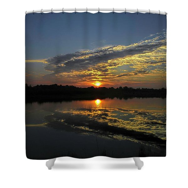 Reflections Of The Passing Day Shower Curtain