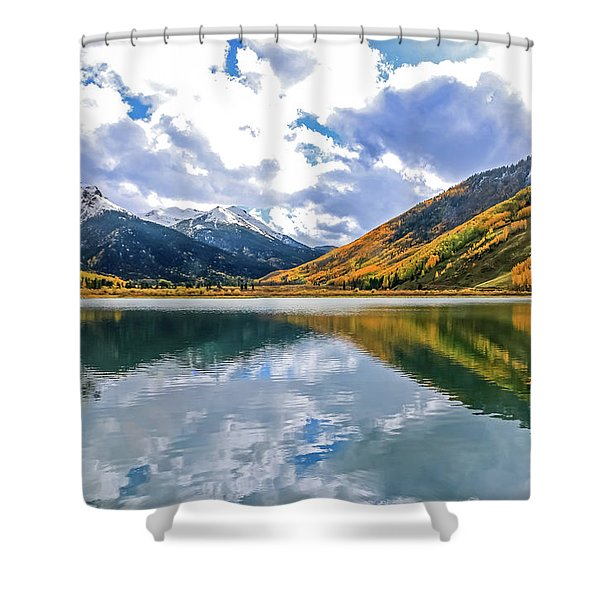 Reflections On Crystal Lake 2 Shower Curtain