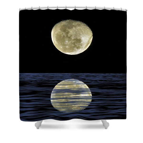Reflective Moon Shower Curtain