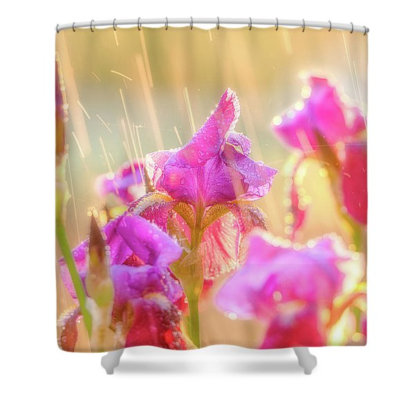 Refreshing Spring Rain Shower Curtain