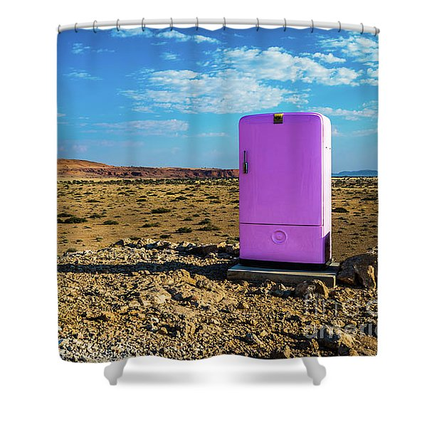Refreshments Pit Stop In The Middle Of Nowhere Shower Curtain